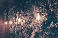 Η διακόσμηση ο παλαιός Edison οδήγησε τις ελαφριές λάμπες φωτός ινών ύφους, στοκ φωτογραφία