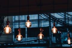 Η διακόσμηση ο παλαιός Edison οδήγησε τις ελαφριές λάμπες φωτός ινών ύφους, στοκ φωτογραφίες με δικαίωμα ελεύθερης χρήσης