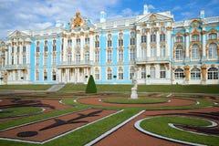 Ηλιακό πρωί Ιουλίου στο παλάτι της Catherine Tsarskoye Selo Στοκ εικόνες με δικαίωμα ελεύθερης χρήσης