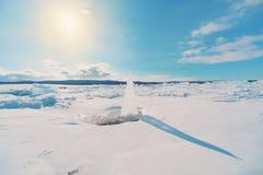 Ηλιακό ρολόι πάγου στοκ φωτογραφίες με δικαίωμα ελεύθερης χρήσης