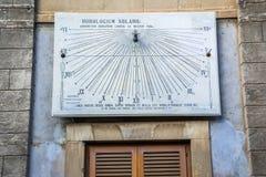 Ηλιακό ρολόι στην Κατάνια στοκ φωτογραφία με δικαίωμα ελεύθερης χρήσης