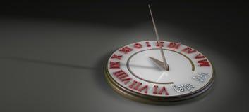 Ηλιακό ρολόι στην τρισδιάστατη απεικόνιση απεικόνιση αποθεμάτων