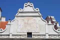Ηλιακό ρολόι στο κάστρο Cesky Krumlov Στοκ φωτογραφίες με δικαίωμα ελεύθερης χρήσης
