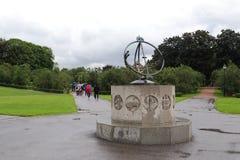 Ηλιακό ρολόι στο πάρκο γλυπτών Vigeland στοκ φωτογραφία με δικαίωμα ελεύθερης χρήσης