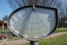 Ηλιακό ρολόι ύψους σε Aiello Στοκ Εικόνα
