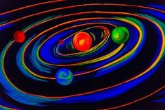 ηλιακό σύστημα Αφροδίτη μονοπατιών υδραργύρου γήινης εστίασης ψαλιδίσματος Στοκ Φωτογραφία