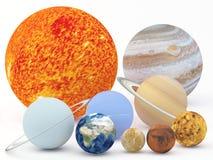 ηλιακό σύστημα Αφροδίτη μονοπατιών υδραργύρου γήινης εστίασης ψαλιδίσματος διανυσματική απεικόνιση