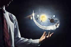 Ηλιακό σύστημα στα χέρια Στοκ εικόνες με δικαίωμα ελεύθερης χρήσης