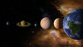 Ηλιακό σύστημα 2 διανυσματική απεικόνιση