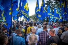Η διαμαρτυρία έξω από το ουκρανικό Κοινοβούλιο στο Κίεβο 31 08 2015 Στοκ Εικόνες