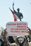 Η διαμαρτυρία της εκλογής της Ινδονησίας Στοκ φωτογραφίες με δικαίωμα ελεύθερης χρήσης