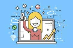 Η διανυσματική απεικόνισης γυναικών οικονομική εκπαίδευση στοιχείων σχεδίου χεριών χρημάτων διαθέσιμη, τραπεζικές εργασίες, κατάθ Στοκ εικόνες με δικαίωμα ελεύθερης χρήσης