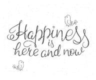 Η διανυσματική απεικόνιση της έμπνευσης εγγραφής χεριών αναφέρει για την ευτυχία απεικόνιση αποθεμάτων
