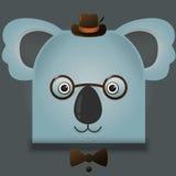 Η διανυσματική εικόνα ενός koala hipster αντέχει το τετραγωνικό ύφος Στοκ φωτογραφίες με δικαίωμα ελεύθερης χρήσης