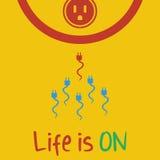 Η διανυσματική ζωή είναι στο επίπεδο Στοκ φωτογραφία με δικαίωμα ελεύθερης χρήσης
