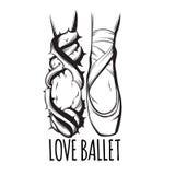 Η διανυσματική δημιουργική απεικόνιση του ballerina ` s πληρώνει ελεύθερη απεικόνιση δικαιώματος