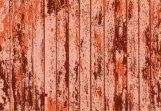 Η διανυσματική σύσταση του ρεαλιστικού πορτοκαλιού οξύδωσε τον παλαιό χρωματισμένο ξύλινο φράκτη Στοκ Εικόνες