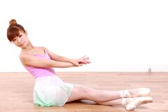 Η ιαπωνική γυναίκα χορεύει μπαλέτο Στοκ εικόνες με δικαίωμα ελεύθερης χρήσης
