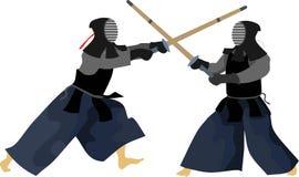 Η ιαπωνική πολεμική τέχνη πάλης Kendo απεικόνιση αποθεμάτων
