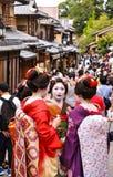 Η ιαπωνική Maiko στο Κιότο Στοκ Εικόνες