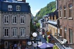 Rue du Petit-Champlain, πόλη του Κεμπέκ, Καναδάς Στοκ Εικόνες