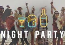Η διασκέδαση ζωής νύχτας κόμματος απολαμβάνει την έννοια στοκ φωτογραφίες με δικαίωμα ελεύθερης χρήσης