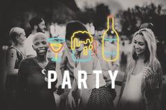 Η διασκέδαση ζωής νύχτας κόμματος απολαμβάνει την έννοια στοκ φωτογραφία με δικαίωμα ελεύθερης χρήσης