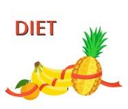Η διατροφή και τα φρούτα Στοκ εικόνα με δικαίωμα ελεύθερης χρήσης