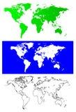 η διαφορετική απεικόνιση σφαιρών χαρτογραφεί το διανυσματικό κόσμο μερών στοκ εικόνες με δικαίωμα ελεύθερης χρήσης