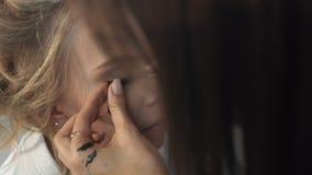 Η διαδικασία για το eyelash απόθεμα βίντεο