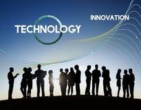Η διαδικασία τεχνολογίας καινοτομεί έννοια στοιχείων δικτύων στοκ φωτογραφία με δικαίωμα ελεύθερης χρήσης