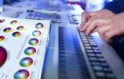 Η διαδικασία της εκτύπωσης όφσετ και της διόρθωσης χρώματος Στοκ Φωτογραφίες