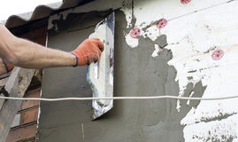 Η διαδικασία putty με spatula Στοκ Εικόνες