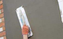 Η διαδικασία putty με spatula Στοκ εικόνα με δικαίωμα ελεύθερης χρήσης
