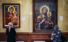 η ιερή θέση του Κίεβου Θεών καθεδρικών ναών αρχιτεκτονικής εξυπηρετεί στο troyeshchina τριάδας Στοκ φωτογραφία με δικαίωμα ελεύθερης χρήσης