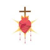 η ιερή καρδιά Ιησούς ευλόγησε Στοκ Φωτογραφία