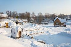Η ιερή πηγή του εικονιδίου Tikhvin της μητέρας του Θεού, Januar Στοκ εικόνα με δικαίωμα ελεύθερης χρήσης