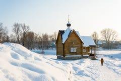 Η ιερή πηγή του εικονιδίου Tikhvin της μητέρας του Θεού, Januar Στοκ Εικόνες