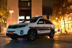 Η ΙΕΡΟΥΣΑΛΗΜ ΙΣΡΑΗΛ η αστυνομία είναι η πολιτική δύναμη, τα καθήκοντά του περιλαμβάνουν την πάλη εγκλήματος, έλεγχος της κυκλοφορ Στοκ Εικόνα
