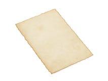 Ηλικίας έγγραφο για το λευκό Στοκ Εικόνα