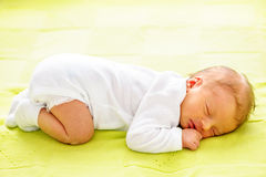Ηλικίας νεογέννητο μωρό μιας εβδομάδας Στοκ φωτογραφίες με δικαίωμα ελεύθερης χρήσης