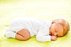 Ηλικίας νεογέννητο μωρό μιας εβδομάδας Στοκ εικόνα με δικαίωμα ελεύθερης χρήσης