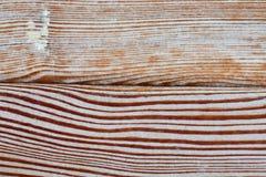 Ηλικίας ξύλινο κατασκευασμένο υπόβαθρο σανίδων, shabby σχέδιο επιφάνειας Μακρο φωτογραφία επάνω στην άποψη Στοκ Εικόνα