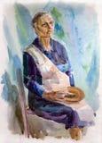 ηλικιωμένη γυναίκα πορτρέ&tau Στοκ φωτογραφία με δικαίωμα ελεύθερης χρήσης