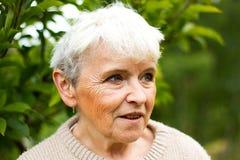 ηλικιωμένη γυναίκα πορτρέ&tau Στοκ Εικόνες