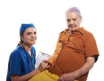 Ηλικιωμένη γυναίκα υγείας ελέγχου γιατρών Στοκ Φωτογραφία