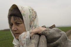 Ηλικιωμένη γυναίκα χώρας Στοκ Εικόνα