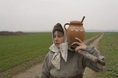 Ηλικιωμένη γυναίκα χώρας Στοκ Φωτογραφίες