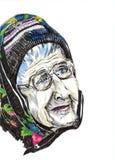 Ηλικιωμένη γυναίκα διανυσματική απεικόνιση