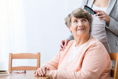 Ηλικιωμένη γυναίκα Cheerfulness στοκ εικόνες με δικαίωμα ελεύθερης χρήσης